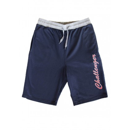 CHALLENGER CH5021 Men's Plus Size French Terry Track Bottom Shorts