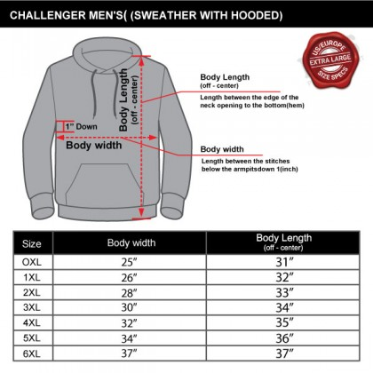 CHALLENGER CH7005 Men's Big and Tall Plus Size Jacket Hoodie Short Sleeve