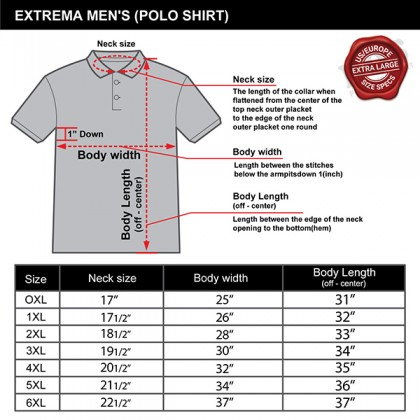 EXTREMA Big Size Men's POLO Cotton T-Shirt EX2281 Short Sleeves Cut and Sew Embroidered Badges