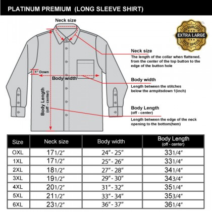 PREMIUM By PLATINUM Big Size Men's Long Sleeve Stripe Shirt PMP9105 With Contrast Inner Collar and Cuffs