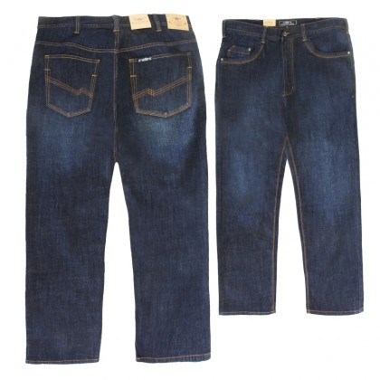 EXTREMA Big Size Men's Jeans Long Pant Stretchable Fabric EXJ6018 Back Pocket Embroidered