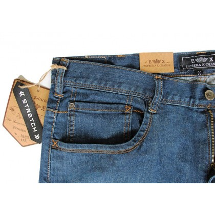 EXTREMA Big Size Men's Jeans Long Pant Stretchable Fabric EXJ6027