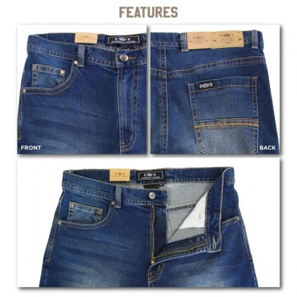 EXTREMA Big Size Men's Jeans Long Pant Stretchable Fabric EXJ6037