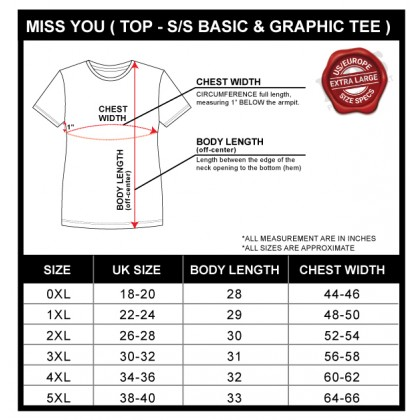 MISS YOU Plus Size Ladies Round Neck Short Sleeve With Printing MY100018
