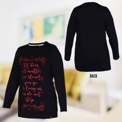MISS YOU Plus Size Printed Round Neck T-Shirt MY300012