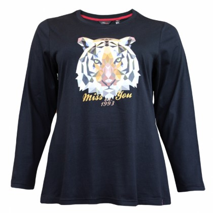 MISS YOU Plus Size Ladies Round Neck Long Sleeve With Printing MY300020