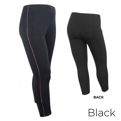MISS YOU Plus Size Easy Stretch Basic Leggings With Side Stripes MY600004