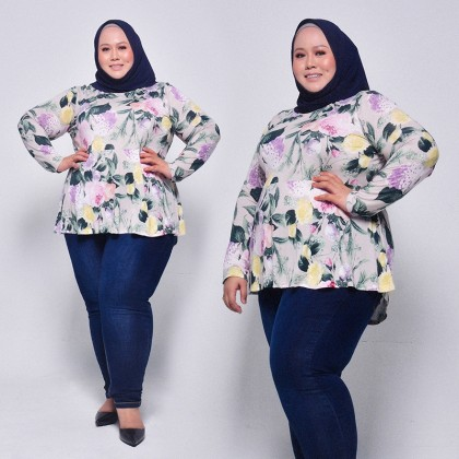 MISS YOU Ladies Plus Size Long Sleeve Blouse MY900007