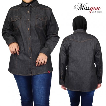 MISS YOU Plus Size Ladies Casual Long Sleeve Blouse MY900008
