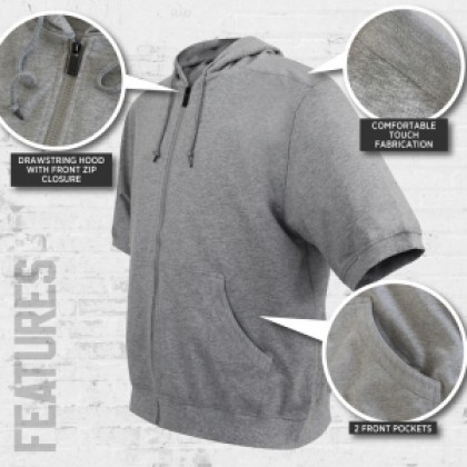 CHALLENGER Men's Big Size Short Sleeves Hooded Sweater CHS7012(Special Edition)