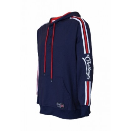 CHALLENGER Men's Big Size Half Button Hoodies With Stripe CHS7015(Special Edition)