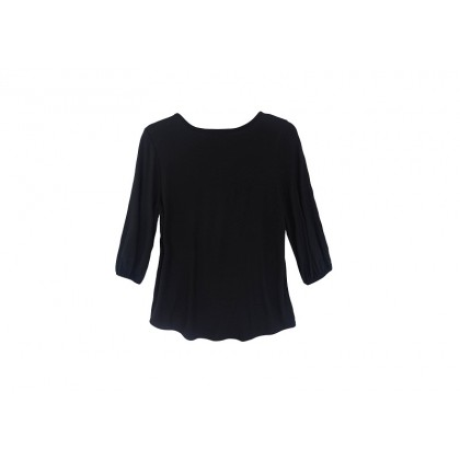 MISS YOU Plus Size Women's 3/4 Sleeve Pleated Round Neck Knit Top MY300002
